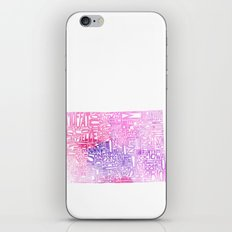 Typographic Colorado - pink watercolor iPhone & iPod Skin