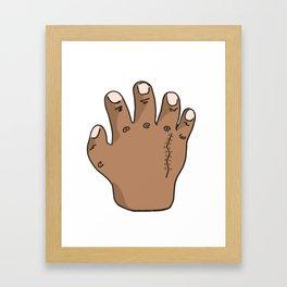 KILL SEZN: HAND Framed Art Print