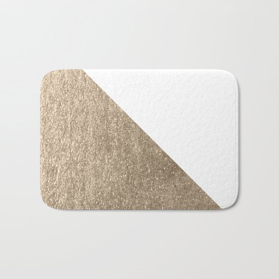 Simply Shadow in White Gold Sands Bath Mat