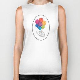 Soar - Rainbow Balloon Hedgehog Biker Tank