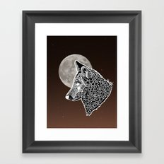 Moon Wolf Framed Art Print