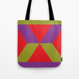 It is not, and i know, but it seems like an Hourglass to me. In a red background. Tote Bag