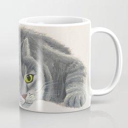 Grey Cat Painting Coffee Mug