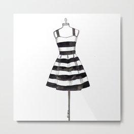 Black & White Dress  Metal Print