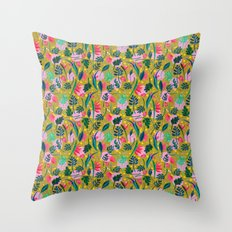 Cool summer in the mustard Throw Pillow