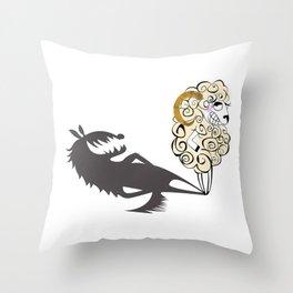 Shady Sheep Throw Pillow
