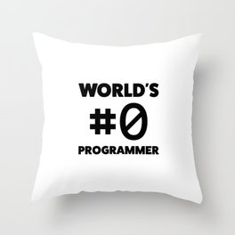 World's #0 programmer Throw Pillow