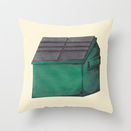 Dumpster #1 Throw Pillow