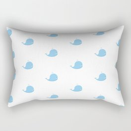 Sea pattern with whales on white Rectangular Pillow