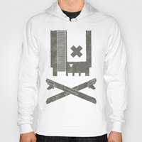castlevania Hoodies featuring Nes Skull by Hector Mansilla