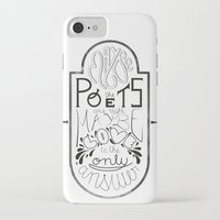 lettering iPhone & iPod Cases featuring Lettering (Maybe) by Lucia Prieto Moreno