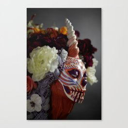 Tiger Blossom Muertita Detail Canvas Print