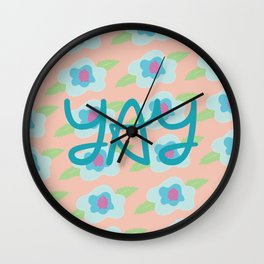 Yay Floral Wall Clock