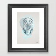 One line mask: Death eater's Framed Art Print