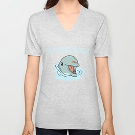 Dolphin as Spirit Animal Unisex V-Neck