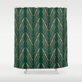 Wheat Grass Teal Shower Curtain