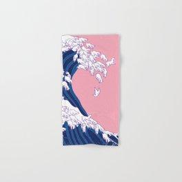 Llama Waves in Pink Hand & Bath Towel