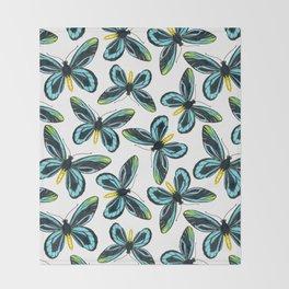 Queen Alexandra' s birdwing butterfly pattern design Throw Blanket