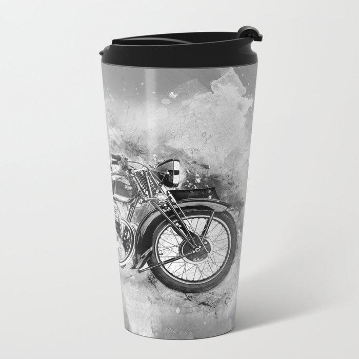 Vintage Motorcycle No2 Metal Travel Mug