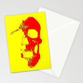 Skull - Red Stationery Cards