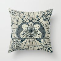 narwhal Throw Pillows featuring Narwhal by AmKiLi