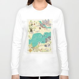 Princess Bride Discovery Map Langarmshirt
