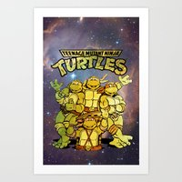 teenage mutant ninja turtles Art Prints featuring Teenage Mutant Ninja Turtles by Nerdy Girl Swag