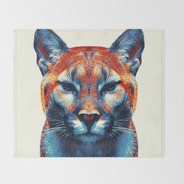 Puma -  Colorful Animals Throw Blanket