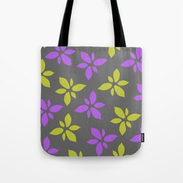 Illustration of flowers(grey background) Tote Bag