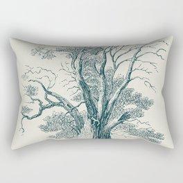 Antique Tree Illustration I Rectangular Pillow