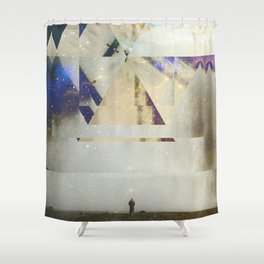 Fractions 01 Shower Curtain