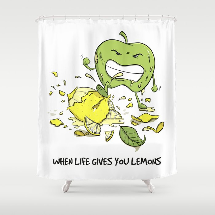 When Life Gives You Lemons by dana alfonso Shower Curtain