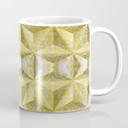Geometric 3D Diamond Yellow Gold Print Coffee Mug