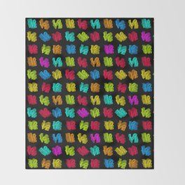 LOVE 3D Icon on black L O V E Throw Blanket