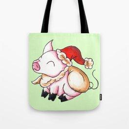 Santa Piggy Tote Bag