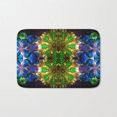 Kaleido: Blue, Green, Yellow Bath Mat