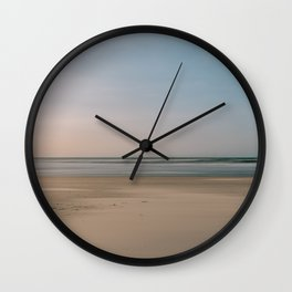 Calm soft Beach || Colorful and natural travel photography || Long exposure Wall Clock
