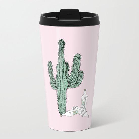 Cactus and Tequila Metal Travel Mug