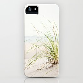 Beach Grass Coastal Photography, Seashore Jersey Shore Photograph iPhone Case
