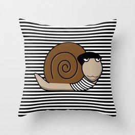 French Snail ~ Escargot Throw Pillow