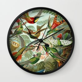 Vintage Hummingbirds Decorative Illustration Wall Clock