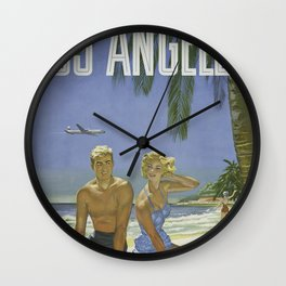 Summer Couple Wall Clock
