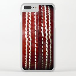 Cricket Ball Clear iPhone Case