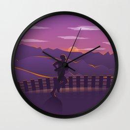 Running sunrise Wall Clock