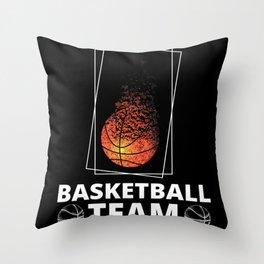 Basketball Team Throw Pillow
