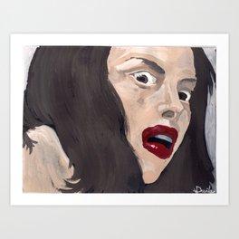 The bloody countess Art Print