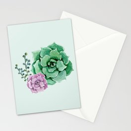 Succulent says hello Stationery Cards