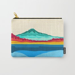 Mount Hood and Trillium Lake Carry-All Pouch