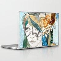 aqua Laptop & iPad Skins featuring Aqua by Jenndalyn