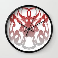 destiny Wall Clocks featuring destiny by Glossy Eyes